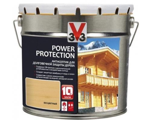 V33 Power Protection антисептик для долговечной защиты дерева 0.9 л