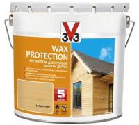 Антисептик V33 Wax Protection для стойкой защиты дерева с добавлением воска 2.5 л
