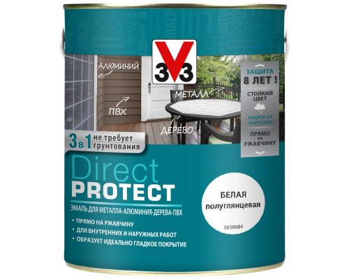 Эмаль DIRECT PROTECT 3 в 1 3V3 (V33) 2,5 л. для дерева, металла, ПВХ.
