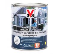 Краска V33 Facade Bois Climats Extremes для деревянных фасадов и интерьеров 0,9 л белая база А