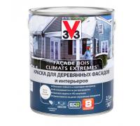 Краска V33 Facade Bois Climats Extremes для деревянных фасадов и интерьеров 2,5 л белая база А
