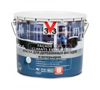 Краска V33 Facade Bois Climats Extremes для деревянных фасадов и интерьеров 9 л белая база С
