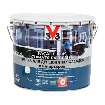 Краска V33 Facade Bois Climats Extremes для деревянных фасадов и интерьеров 2,5 л белая база С