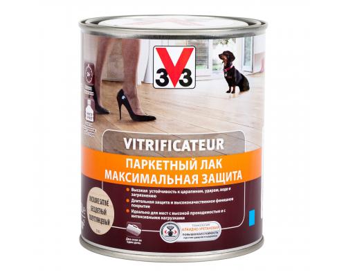 Паркетный лак МАКСИМАЛЬНАЯ ЗАЩИТА 3V3 (V33) 0.75 л