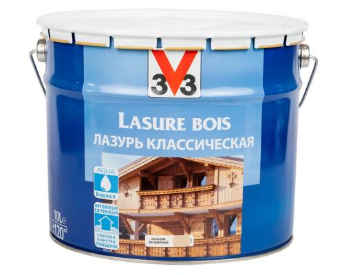 """Лазурь для защиты древесины V33 """"Классическая. Бесцветная"""", на водной основе"""