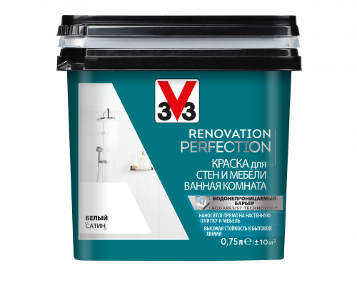 Краска для стен и мебели в ванной комнате V33 Renovation Perfection
